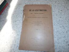 1923.légitimation par lettres royaux.ancien droit français.Louis Delbez (envoi)