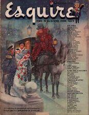 1947 Esquire December - Chesley Bonestell; Edward G Robinson; Damon Runyun;Idaho