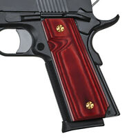 1911 High Polished Wood Slim Grips Full Size/Compact Screws Free Mag Release S-C