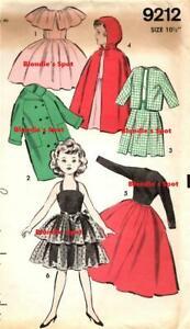 "Little Miss Revlon Doll Clothes Pattern COPY 9212 - 10 1/2"" dolls High Heel doll"