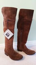 $500 Frye Molly Tassel Suede Over the Knee Boot Brown size 7.5 B
