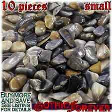 10 Small 10mm Combo Ship Tumbled Gem Stone Crystal Natural - Picasso Stone