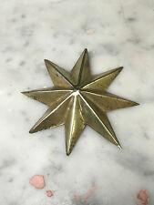 stella 8 punte ottone cesellato tranciata a mano manto Madonna Rosario  5,4 cm