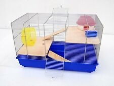 CAGE SOURIS CAGE A Hamster Cage à rongeur 58x32x38 cm bleu avec accessoires