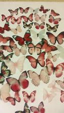 40 PRECUT Pink Mix Edible wafer/rice paper Butterflies cake/cupcake toppers