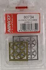 NINCO 80734 HYPER 18MM WHEEL INSERTS (4) NEW 1/32 SLOT CAR PART