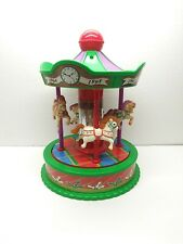 Vintage 1991 RedBox Musical Wind Up Horse Carousel Plays *Rare Design*
