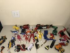 HUGE Vintage Power Rangers Toy Bandai Mixed Lot Megazord Figures 'As Is' READ 2C