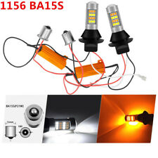2x 1156 BA15S 42SMD LED Dual Color Switchback Turn Signal DRL Light White/Amber