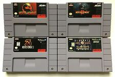 Super Nintendo SNES Mortal Kombat 1 + 2 + 3 + Ultimate Mortal Kombat 3