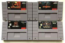 Super Nintendo SNES Mortal Kombat 1 + 2 + 3 + Ultimate Mortal Kombat 3