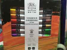 Winsor & Newton Artist Fine Poster Color Paint Set - 18 Assorted Colors