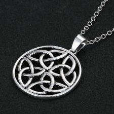 Pentagon Celtic Knot Pendant Charm Silver Plated Long Chain Necklace Jewelry 20'