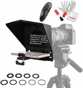 """Bestview Desview T2 8"""" Portable Teleprompter W/ Remote For Ipad Smartphone DSLR"""