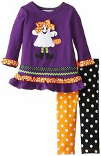 Purple Ghost Trick or Treat Pumpkin Legging Set