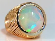 14.01ct natural opal diamonds ring 14kt Raised Grill