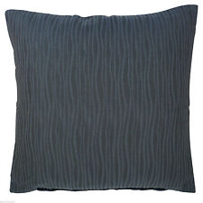 """Set of 2 Cushion Covers in Blue Wavy Striped Design 18x18"""" excellent quality"""