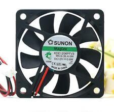 SUNON KDE1206PFV3 6010 DC 12V 0.6W 6cm 2-wire Cooling Fan