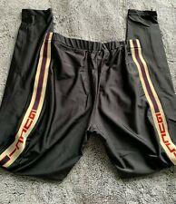 Gucci Women's Leggings Pants size L Tech Logo Black Stretchy Authentic $1.500