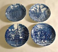 4 Staffordshire Liberty Blue Coasters
