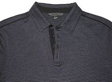 $228 NEW John Varvatos COLLECTION Polo in Black Size Small Silk/Cotton
