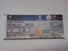 Ticket LAZIO ROMA - LEGIA WARSAW 2013/14 Europa League Italy Poland Polska