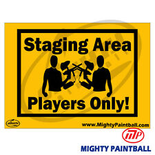Paintball Safety Sign - Staging Area (Mp-Fe-S013)