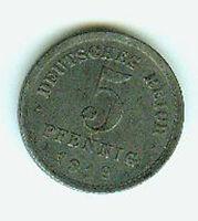 Deutsches Reich 5 Pfennig Eisen 1919 E