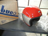 NOS Vintage Red Silver Design Buco Helmet Model 1785-4 X-Large AHRMA
