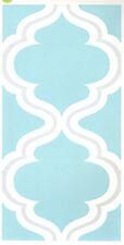 DAMASK TILES wall sticker 4 decals bedroom decor backsplash bathroom blue silver