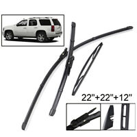 XUKEY Front Rear Windshield Wiper Blades Set For Chevrolet Tahoe MK2 07-13 08 09