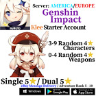 [America/NA/Europe/EU/Asia/AS] Genshin Impact Klee Starter Account