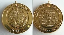 Collectable Gold Coast Dollar Medallion Token - Queensland Australia - Not Gold