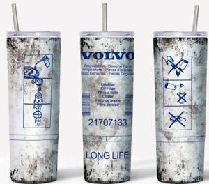 Volvo Oil Filter 20oz Skinny Tumbler custom drinkware Dirty Style with straw