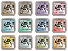 2017 Ranger Tim Holtz Distress Oxide Ink Pads (Complete Set of 12 Colors) NEW