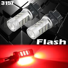 3157 HIGH POWER Flashing Strobe Blinking LED RED Brake Light Bulb