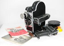 Paillard Bolex H-16 Reflex 16mm Cine Film Camera & Kern 16mm f/2.8 AR (2874BL)