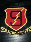1970s 80s 90s USMC 9th Marine Regiment Patch