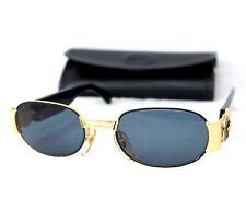Gianni Versace sunglasses S70 vintage oval gold baroque medusa head black small