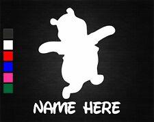 PERSONALISED NAME AND WINNIE THE POOH WALL/DOOR ART VINYL STICKER NURSERY ROOM