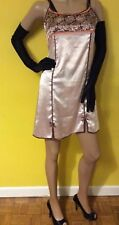 Vintage French FLORAL1900 Satin Negligee Nightie Full Slip excellent pre ❤️ love