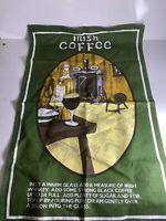 """Vintage Irish Tea Kitchen Towel """"Irish Coffee"""""""