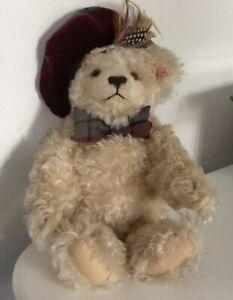 Steiff Scottish Teddy Bear 2001 654855 RETIRED Limited Edition 543/3000