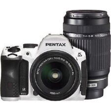 USED Pentax K-30 with 18-55mm and 50-200mm White Excellent FREE SHIPPING