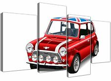 GRANDE Mini Cooper Union Jack Tela SPLIT 4 PEZZI - 4277