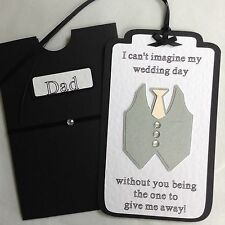 Personalised Wedding Tag And Wallet 'Will You Give Me Away?'