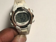 Nice Ladies White And Brown Timex 1440 Digital Sports Watch