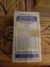 BROOKE BOND: AFRICAN WILD LIFE 1923. Complete set 50 tea trade cards blue backs