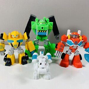 Transformers Rescue Bots 2015 Playskool Boulder Bumble Bee Fireplug Heatwave Lot