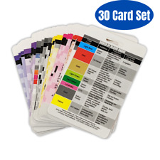 30 Vertical Nursing Badge Reference Cards Set - (Bonus Cheat Sheets!)